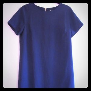 Lulus navy shift and shout dress
